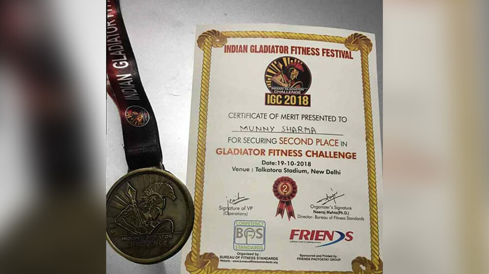Munny Sharma fitness trainer achievements