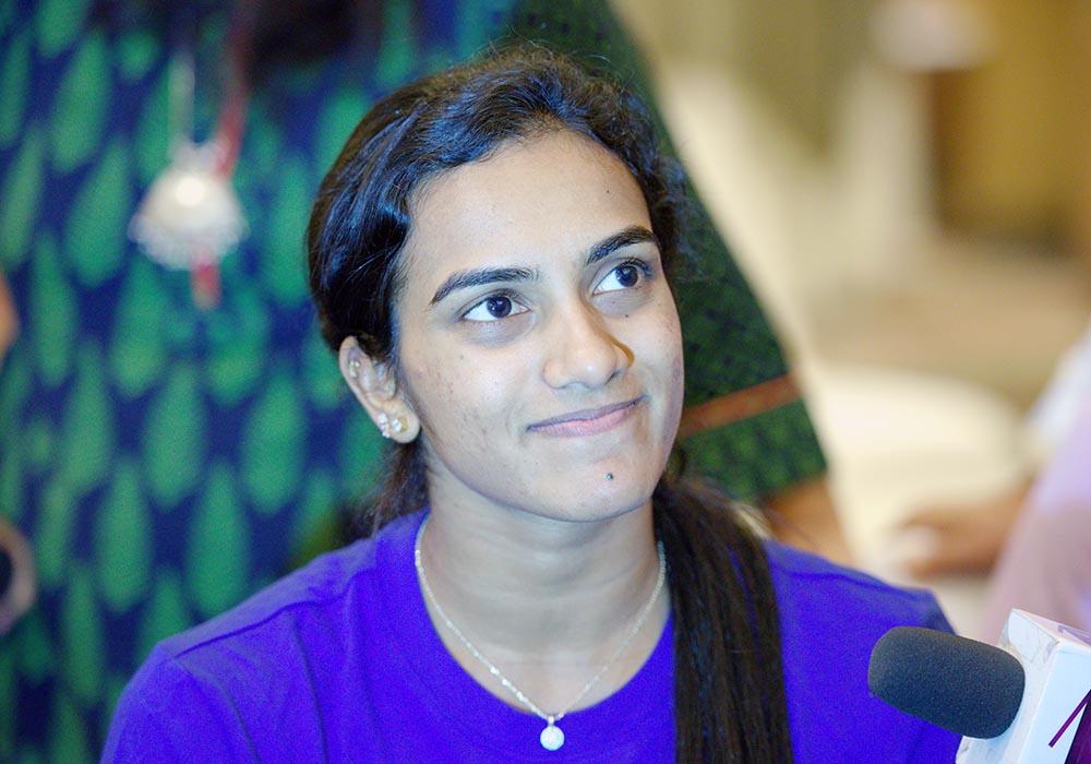 Badminton Champion P.V. Sindhu following strict diet routine