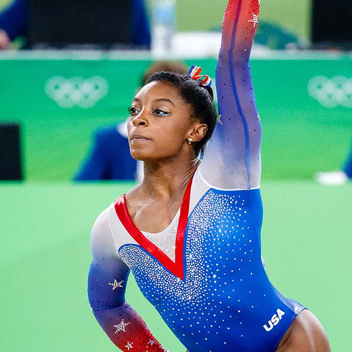 American Gymnast Simone Biles Laureus Sportswoman of the year rare image
