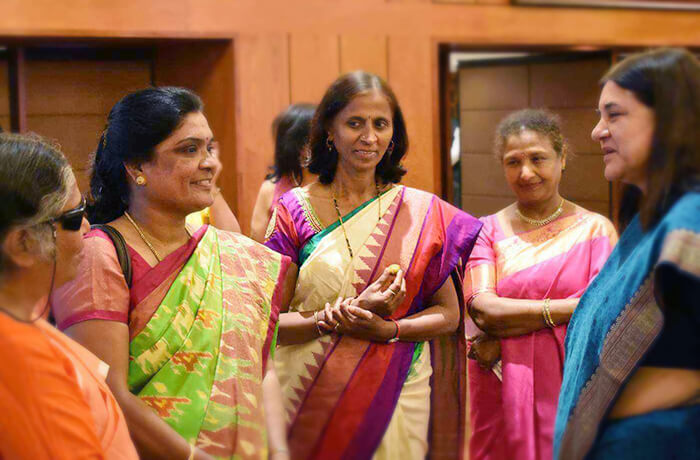 Revanna Umadevi, Gargi Gupta & other awardees with Ms. Maneka Gandhi at Rashtrapati Bhavan