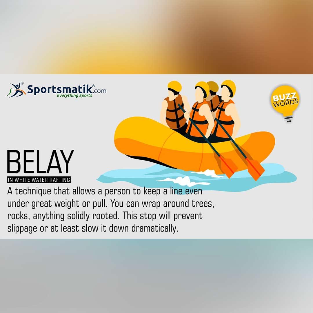 belay in white water rafting