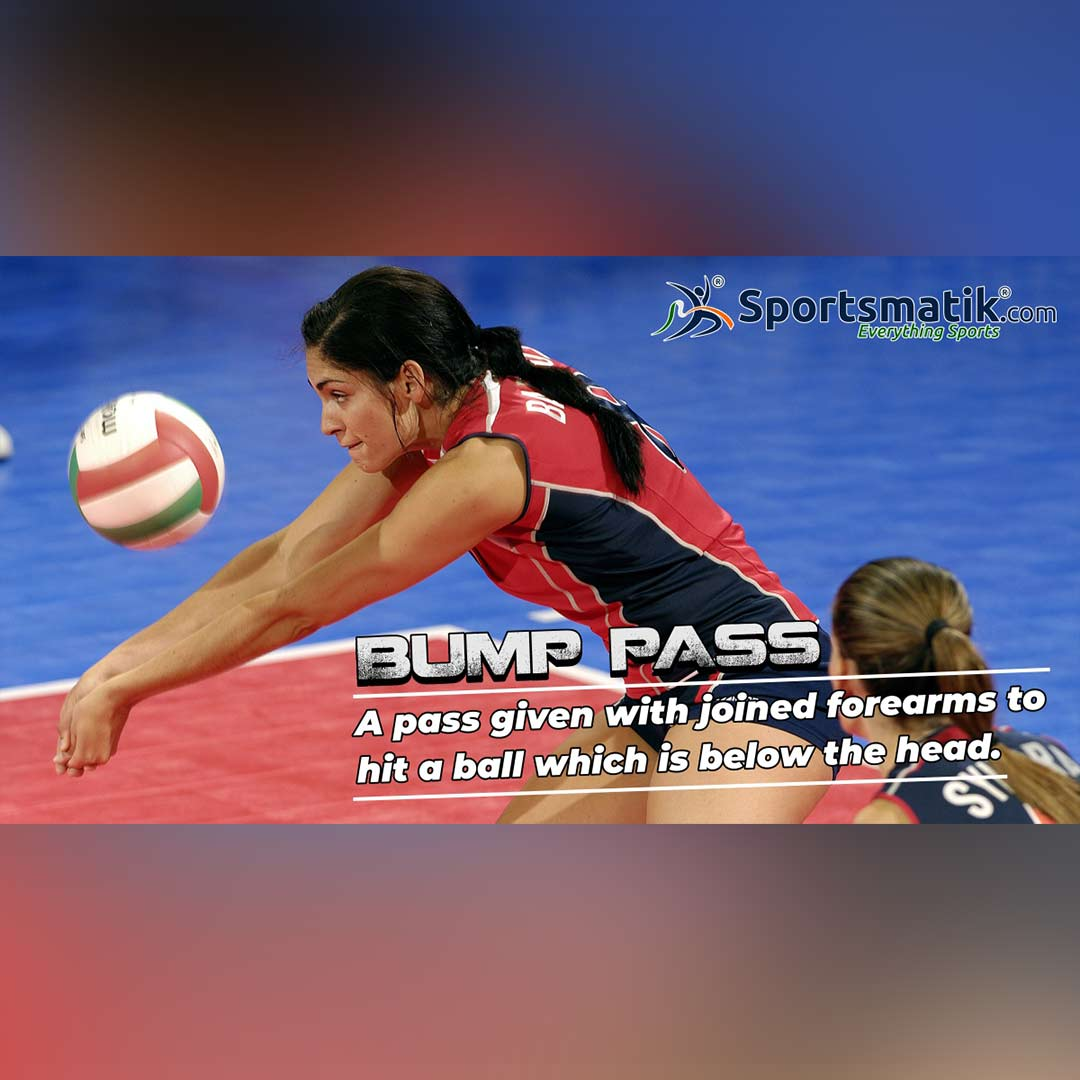 bump pass in volleyball