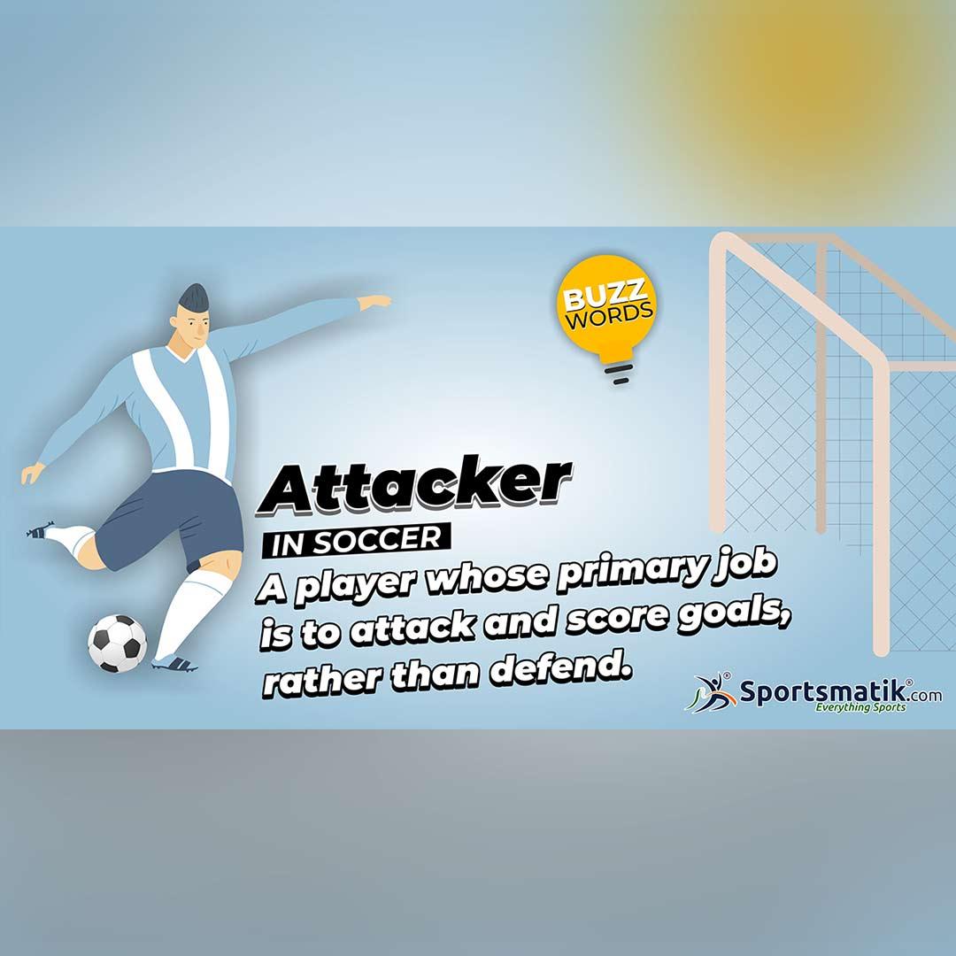 attacker in football