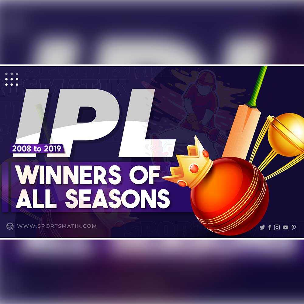 Winners of All IPL Seasons | 2008 to 2019 | Indian Premier League Champions