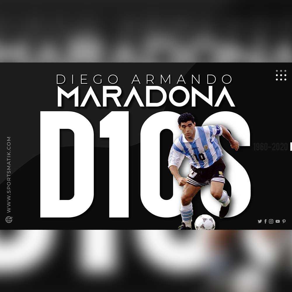 Maradona's journey of football in 3 minutes | Hand of God | Diego Armando Maradona | Sportsmatik