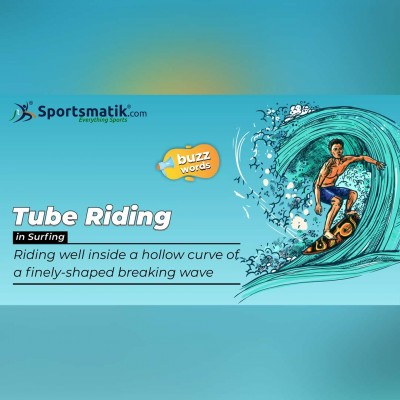 Tube riding in surfing