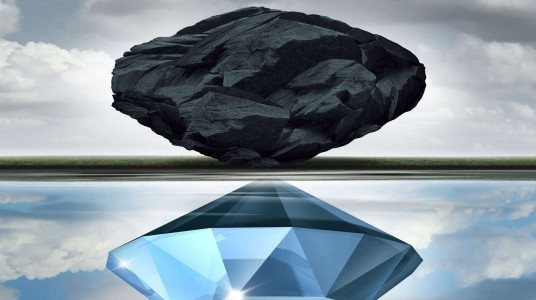 The coal that turned into the diamond