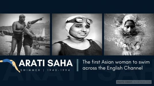 Arati Saha: The first Asian wo...